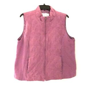 Purple micro suede quilted vest size XL
